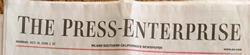 Press Enterprise masthead