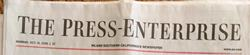 Press Enterprise masthead
