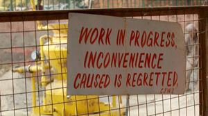 "passive voice: ""inconvenience caused is regretted"""