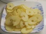 spiralizer - sliced potatoes
