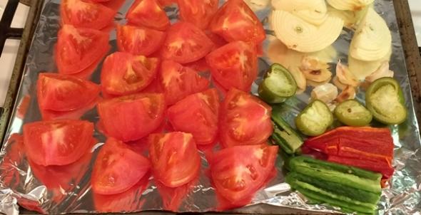 Chili Colorado veggies