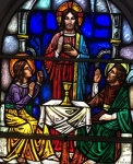Emmaus stained glass window