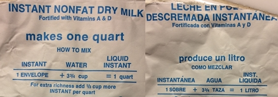 Dry Milk Inner Package