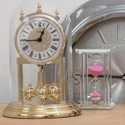 clocks and hourglass