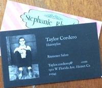 hair stylists business cards