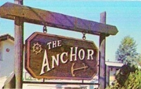 The Anchor restaurant sign
