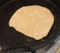 frying the tortilla