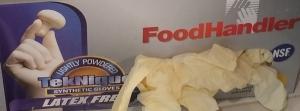food handling gloves