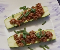 zucchini with spicy ground beef