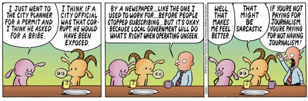 cartoon about newspapers