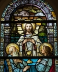 Emmaus stained glass